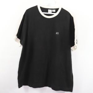 Armani Exchange Spell Out Short Sleeve Ringer Tee
